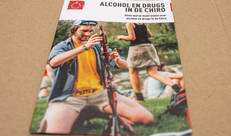 Alcohol en drugs in de Chiro brochure