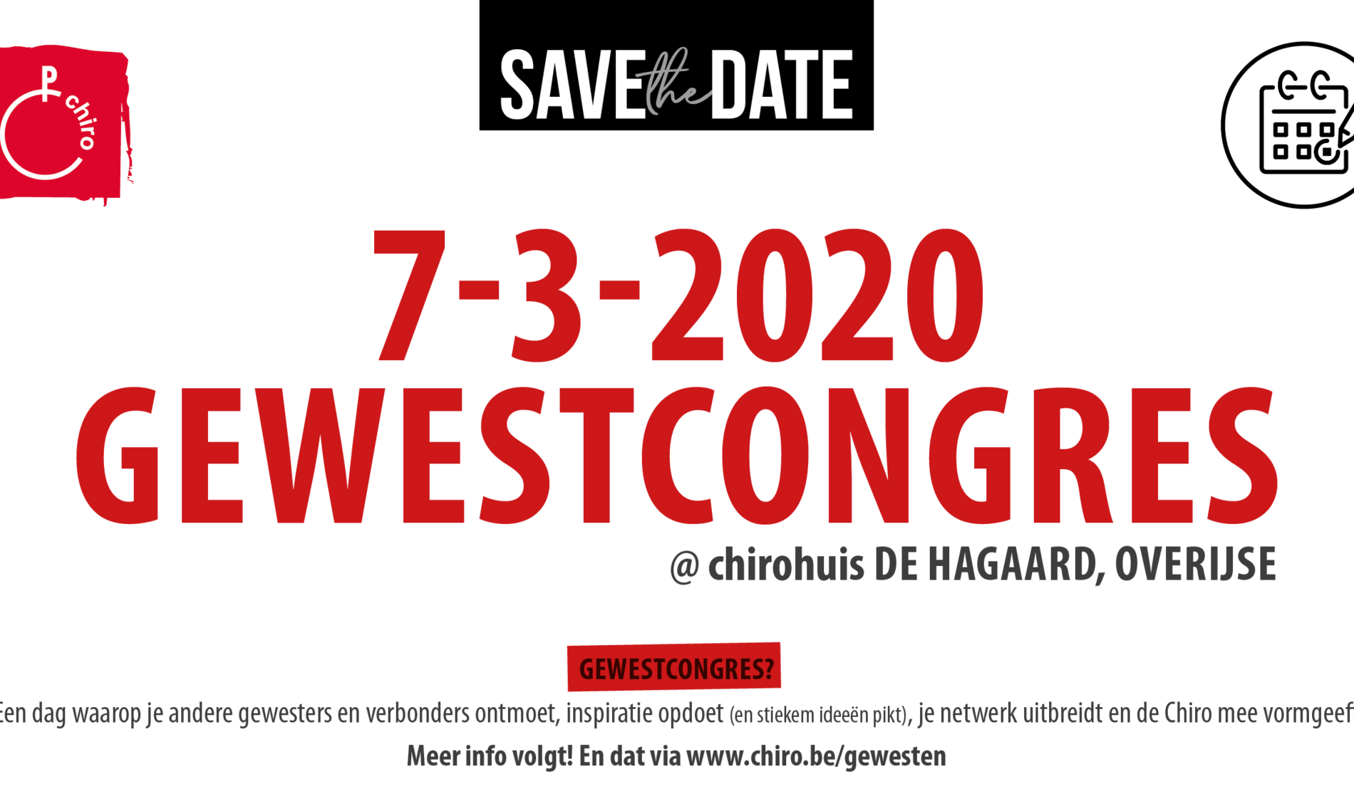 Save the date gewestcongres